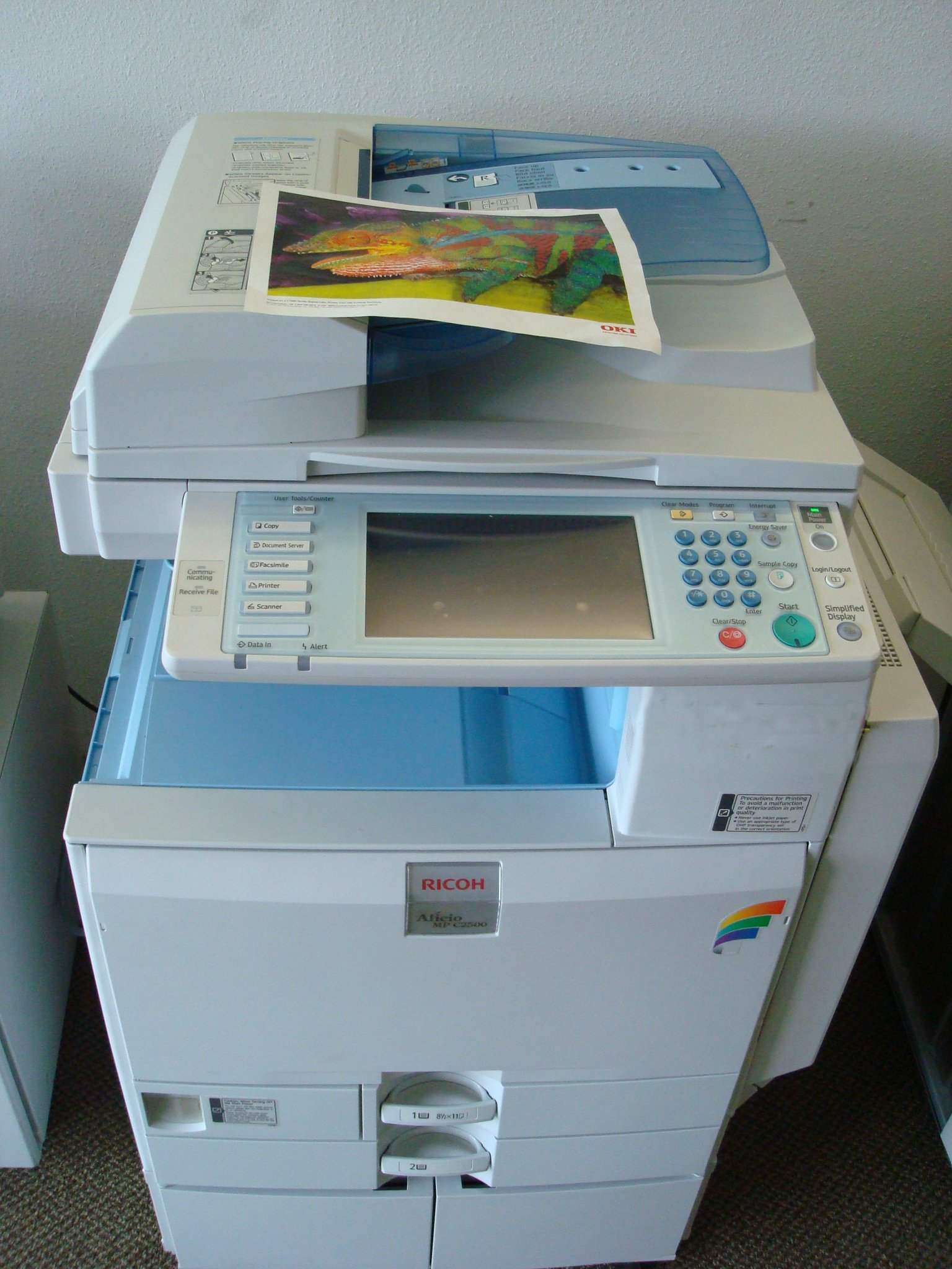 For colour copiers to buy or rent go to our home page where you